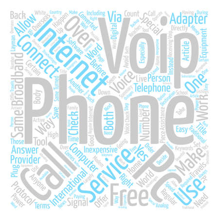 About VoIP text background word cloud concept Illustration