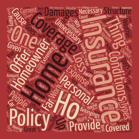An Insight Into Homeowner s Insurance text background word cloud concept