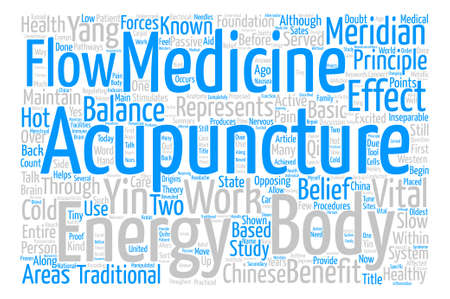 inseparable: Acupuncture A Benefit text background word cloud concept Illustration