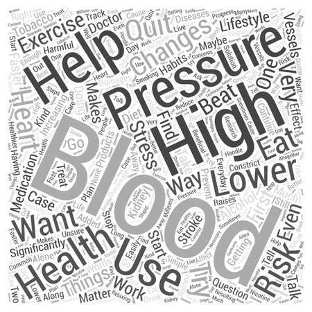 maybe: Lowering Your Blood Pressure Word Cloud Concept Illustration
