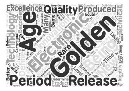 echoes: Are We In A Golden Age Of Electronics Word Cloud Concept Text Background