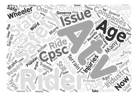 ATV safety issues Word Cloud Concept Text Background