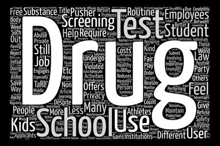 A Different Kind Of School Test Word Cloud Concept Text Background