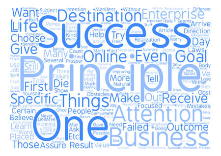 And Principles For The Success Of Any Entrepreneur text background word cloud concept