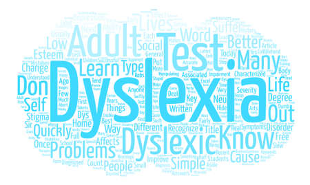 Adult Dyslexia Test Are You In The That Need It And Don t Know text background word cloud concept