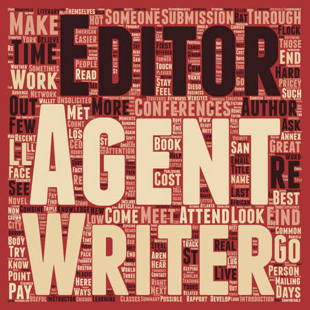 unsolicited: Low Cost Ways To Meet Agents Editors text background wordcloud concept