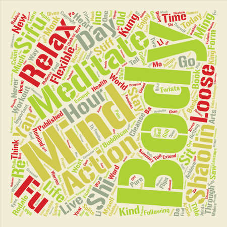 Body and Mind Word Cloud Concept Text Background