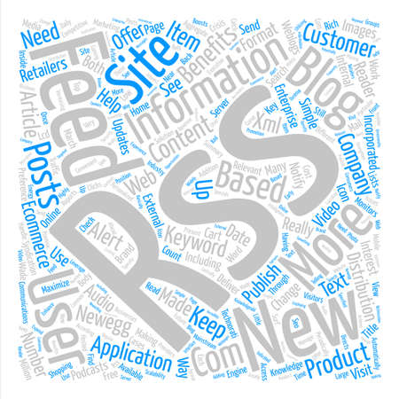 really simple syndication: Benefits Of Rss In Ecommerce Word Cloud Concept Text Background