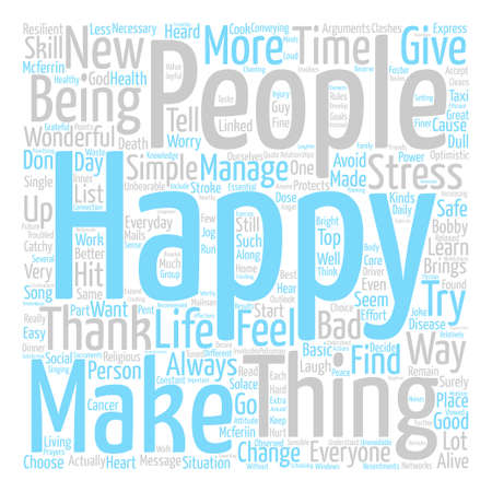 Be happy Word Cloud Concept Text Background