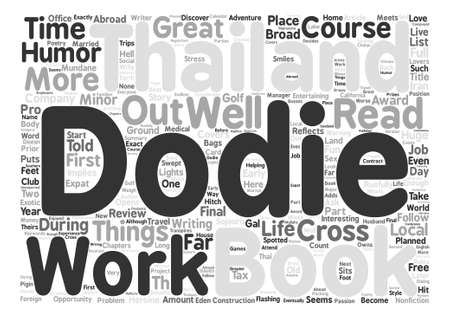 implies: Book Review A Broad Abroad In Thailand By Dodie Cross text background word cloud concept Illustration