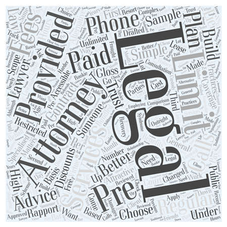 Limitations of Pre Paid Legal Services Word Cloud Concept