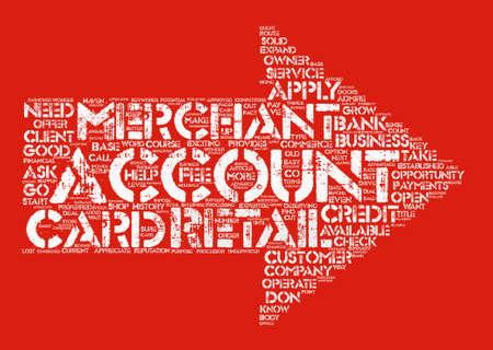 Un concept de nuage de mot de fond de texte Merchant Retail Account