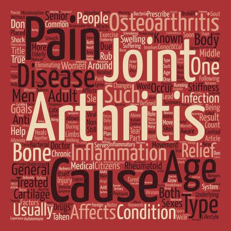 Artritis Niet alleen voor de Senior Citizens tekst achtergrond woord wolk concept