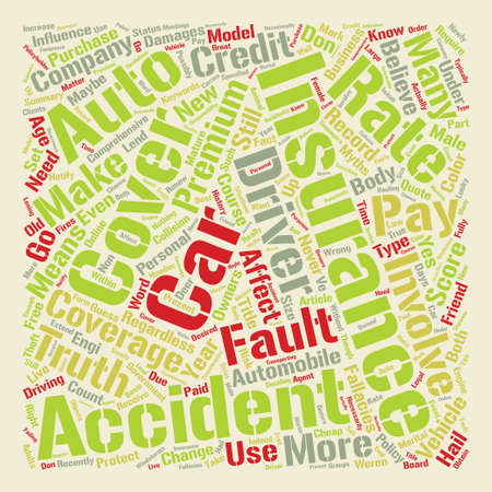 Auto Insurance Myths You Should Know About Word Cloud Concept Text Background