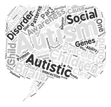 characterised: Autism The Mystery Word Cloud Concept Text Background