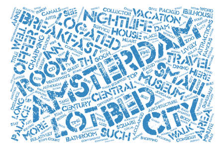 Amsterdam Bed And Breakfast Word Cloud Concept Text Background