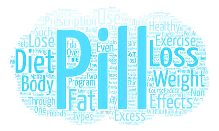 A Pill A Day Approach to Weight Loss Word Cloud Concept Text Background