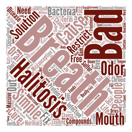 Bad Breath the Cure is as Simple as the Cause Word Cloud Concept Text Background
