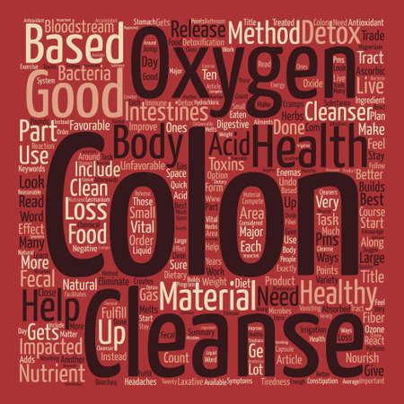 A Colon Detox Can Improve Your Colon Health text background word cloud concept