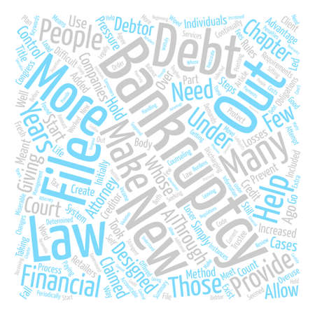 congress: Bankruptcy Law Changes Designed To Hold Debtors Accountable Word Cloud Concept Text Background