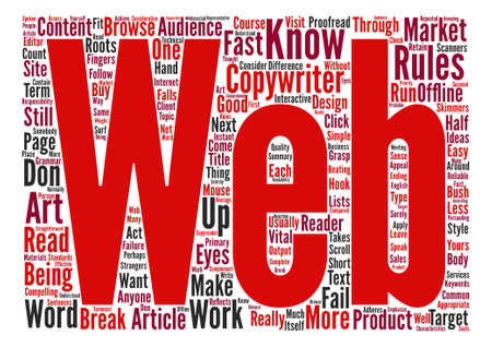 A Web Copywriter Should Know The Rules And How To Break Some text background word cloud concept