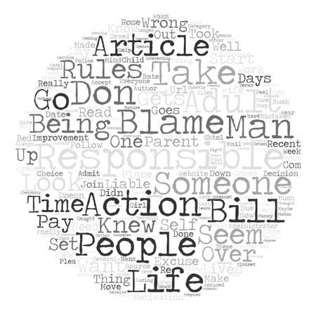 http: Are You Liable For Your Own Actions text background word cloud concept