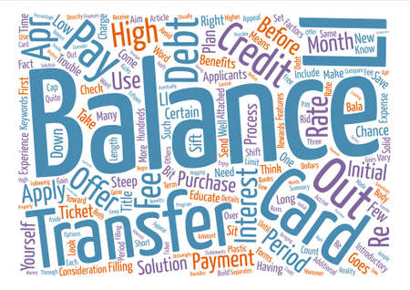 steep: Balance Transfer Credit Card Offers What You Need To Know Word Cloud Concept Text Background Illustration