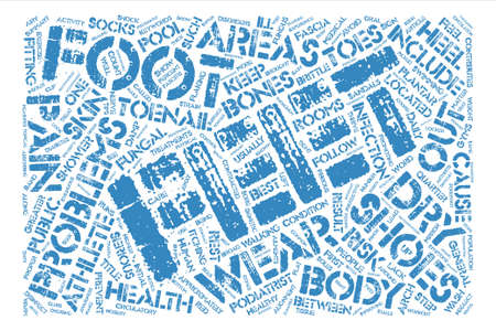 Athletes At Greater Risk For Foot Problems Word Cloud Concept Text Background