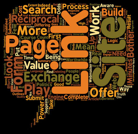 Link Exchange a power play text background wordcloud concept Illustration