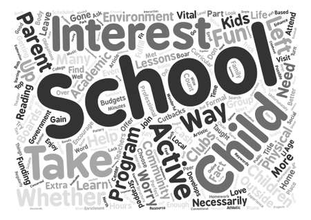 After School Programs text background word cloud concept Ilustrace