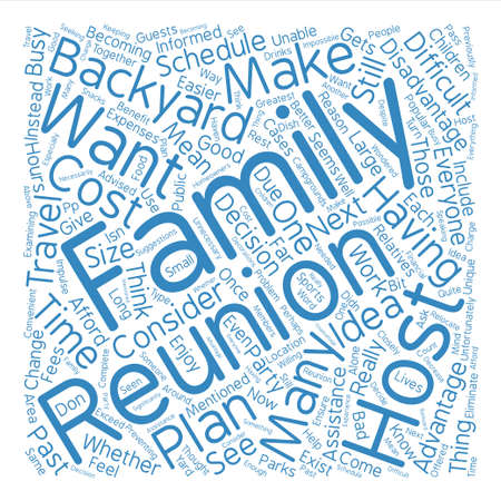 Backyard Reunions Easier Than You May Think text background word cloud concept