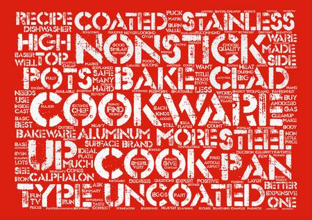 cast iron: Basic Cookware Explained text background word cloud concept