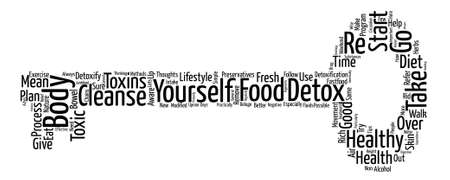 body detox Word Cloud Concept Text Background