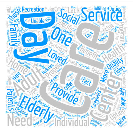 Adult Day Care Center text background word cloud concept
