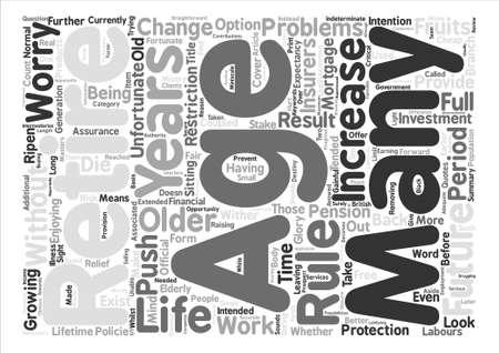 A Stake In The Future For Older People Word Cloud Concept Text Background