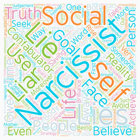 Lies People Tell text background wordcloud concept
