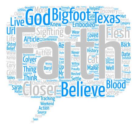 http: Bigfoot Evangelism text background word cloud concept Illustration