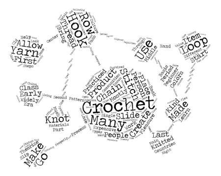 theorize: beginner crochet Word Cloud Concept Text Background