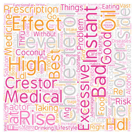lower cholesterol level text background wordcloud concept Illustration