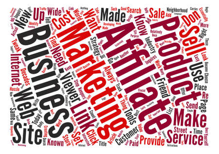affiliates: Affiliates In Your Strategy Word Cloud Concept Text Background