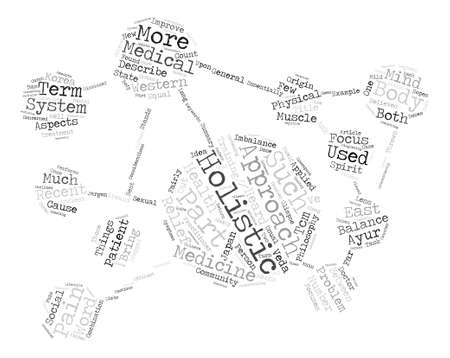 glimpse: A Glimpse Into The Holistic Approach To Medicine text background word cloud concept