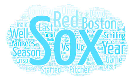 Boston Red Sox Preview text background word cloud concept Illustration
