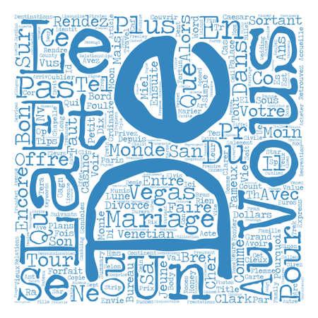 Bons Plans pour Mariage Express concept de nuage de texte fond texte