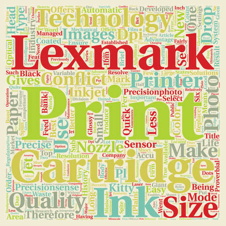 Lexmark Relatively new to the market but already on top text background wordcloud concept