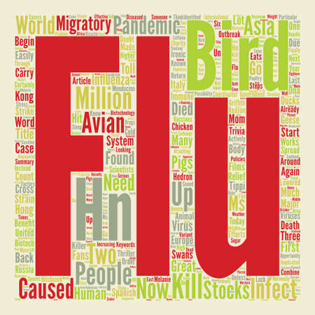 hn: Bird Flu Is In The U S Word Cloud Concept Text Background Illustration