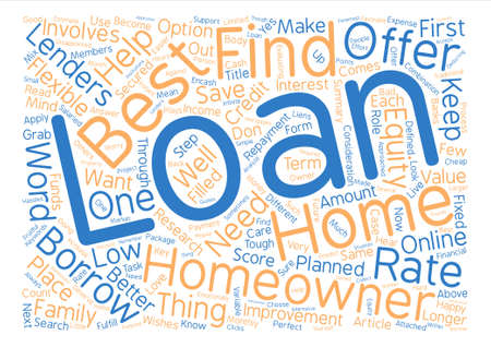 homeowners: Best Homeowner Loans Perfect Package for homeowners text background word cloud concept