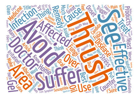 Best Home Remedies Against Thrush Word Cloud Concept Text Background