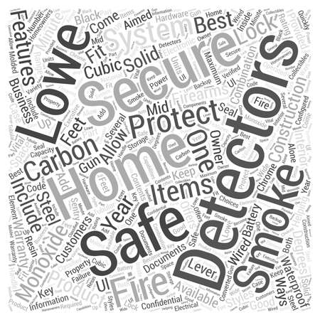 Lowes Home Security System Word Cloud Concept