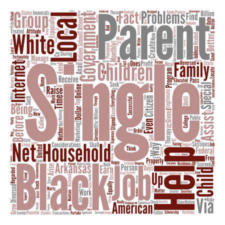 fortunately: black single parents text background word cloud concept