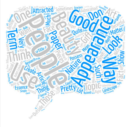 hideous: Appearances are Deceitful Word Cloud Concept Text Background